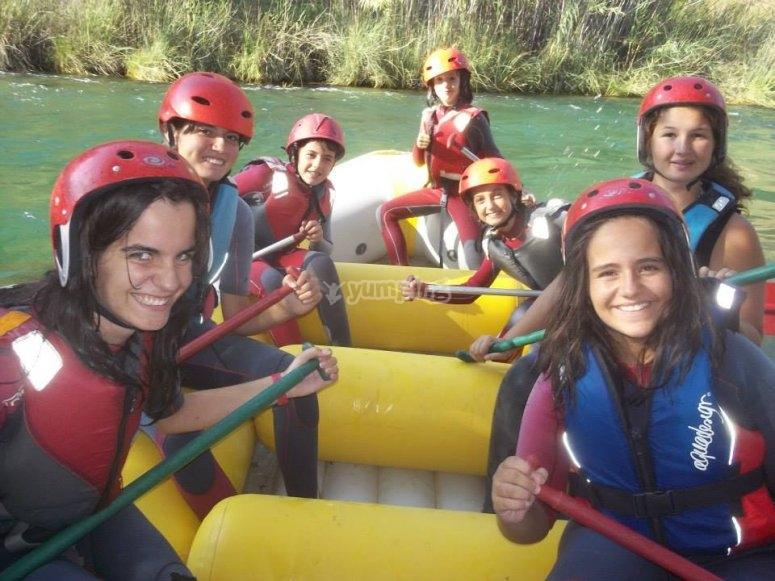 durante ruta de rafting