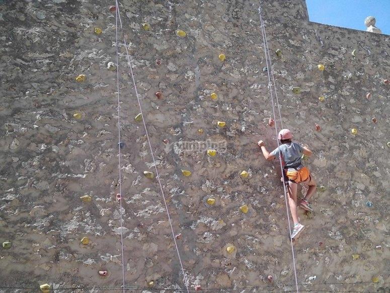 La pared de escalar