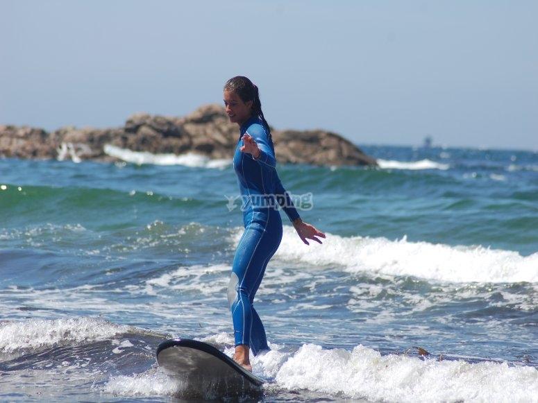 Iniciandose en el surf