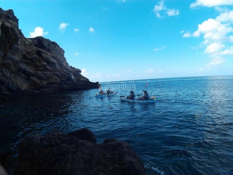 Navegacion en kayak en Cartagena