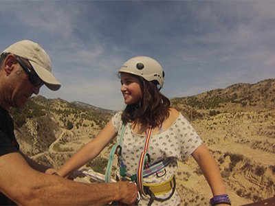 Salto de puenting y karting en La Azohía, y comida