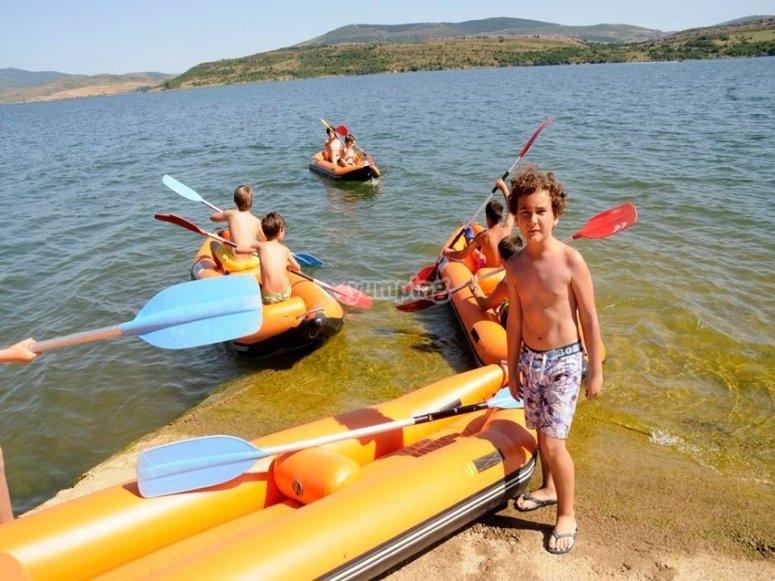 Canoa rafts en Cantabria