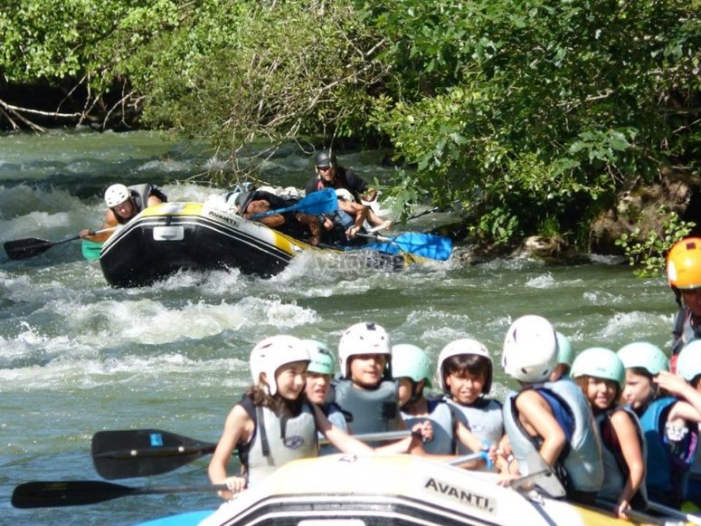 Descenso de rafting en Cantabria