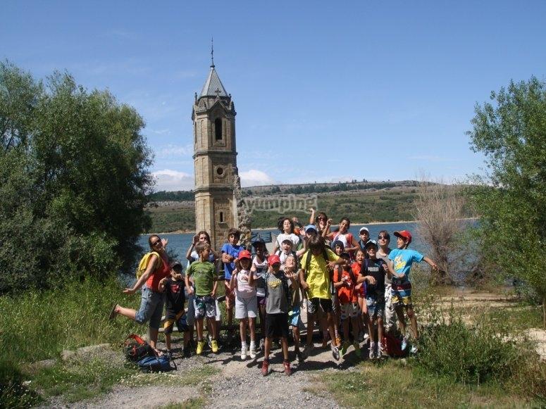 Todos los alumnos del campamento en Cantabria