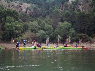 Navega de Miravet a Benifallet en Kayak niños