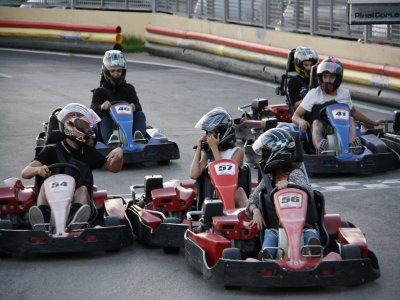 Karting competition in Ibiza with training