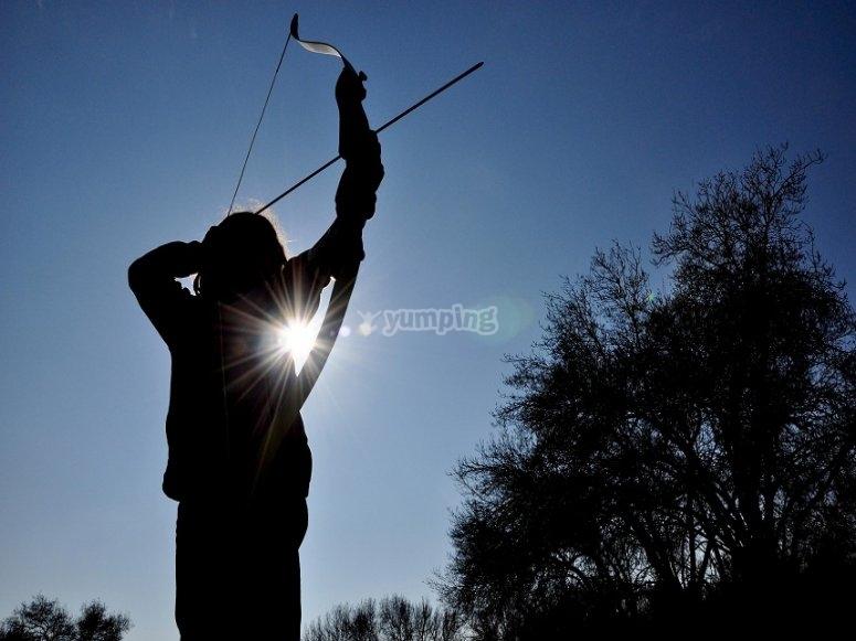 Disparando la flecha