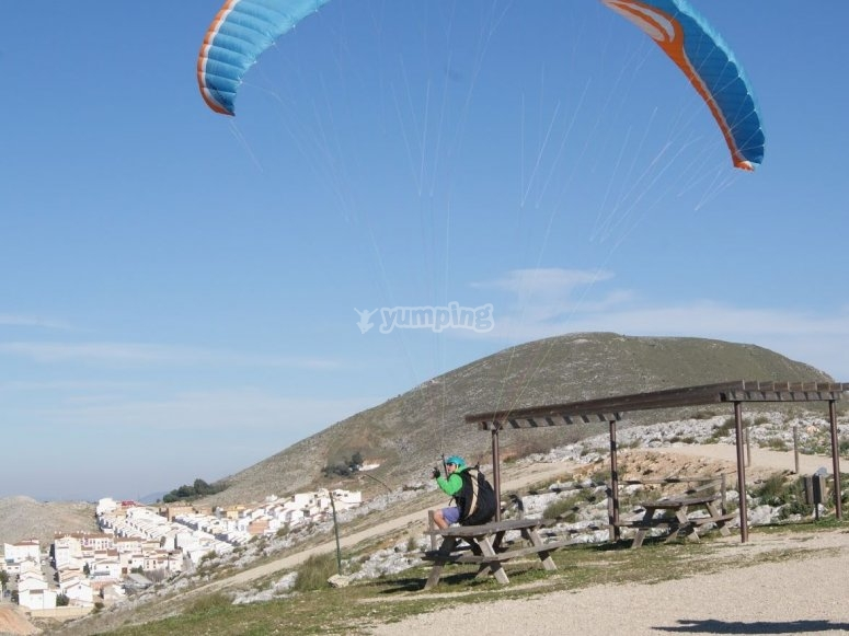 Paraglide over the beach
