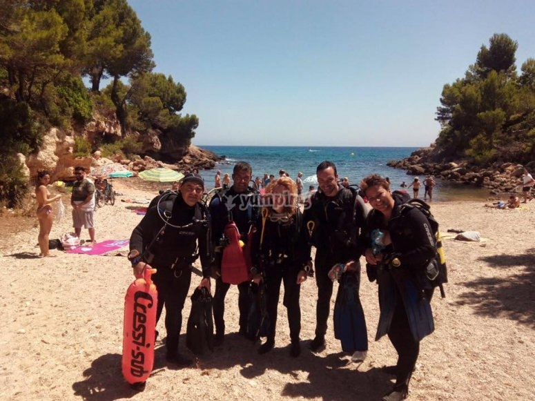 Alumnos del Open Water