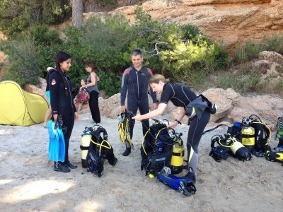Diving Baptism and kayaking in Costa Dorada