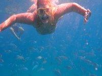 Immersioni attraverso acque cristalline