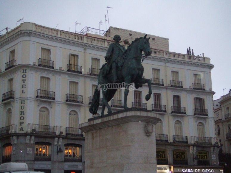 Carlos III en Sol