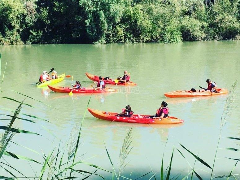 Recorrido por el Guadalquivir en kayak