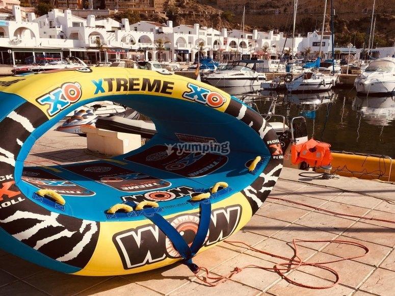 Donut en el puerto para darlo todo