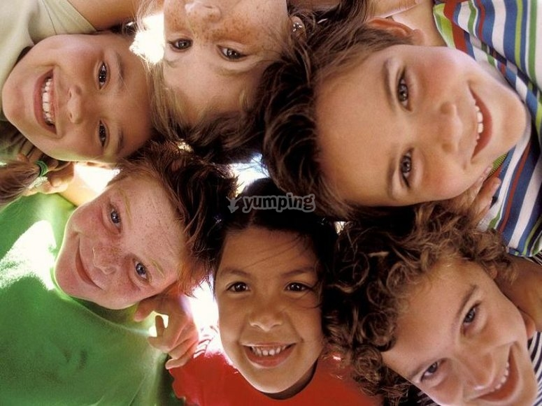 A group of kids
