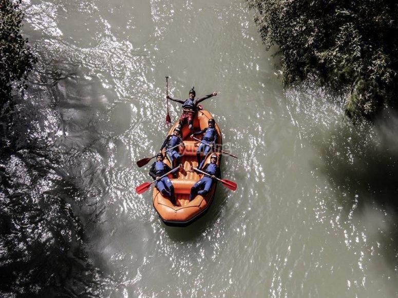 Balsa de raft desde arriba