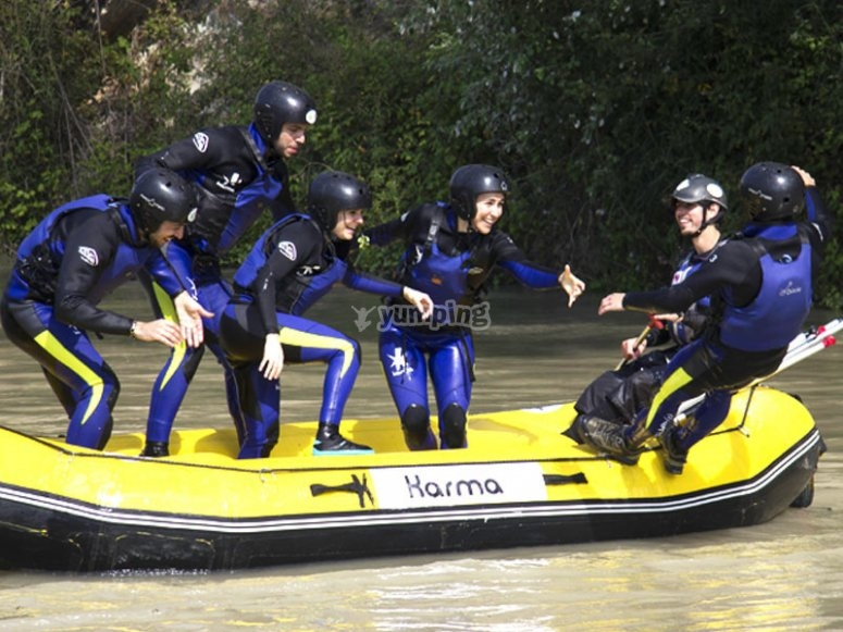 Preparacion rafting
