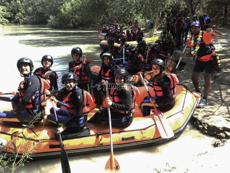 Pronti per l'avventura rafting