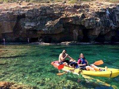 Paseo en piragua en Denia snorkel y pícnic adultos