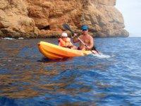 Kayaking en familia