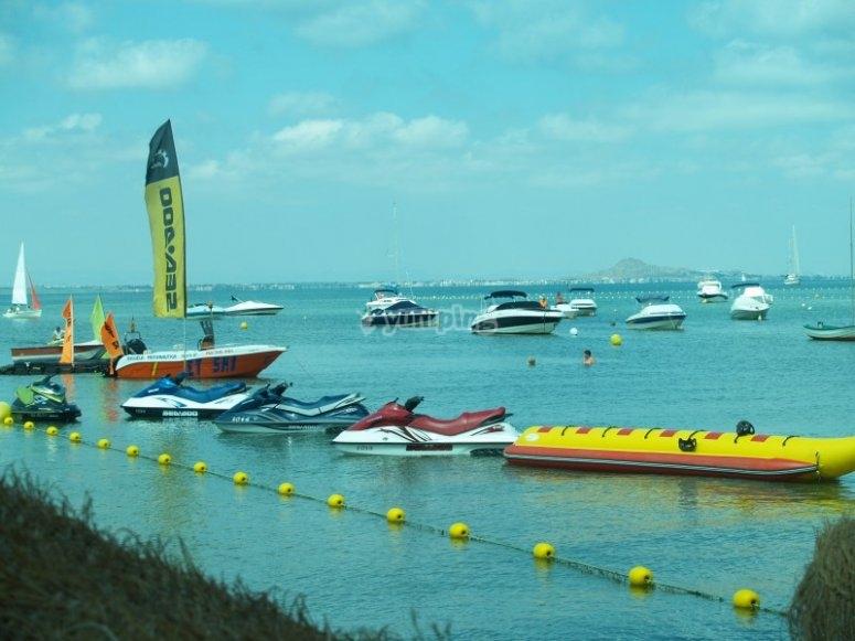 Jet skis and banana boat