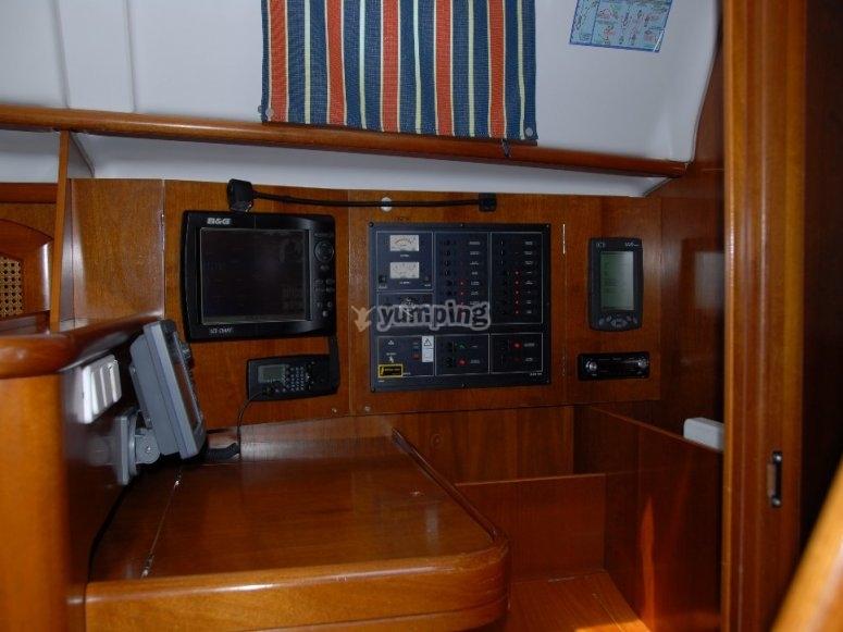 Interior de nuestro barco