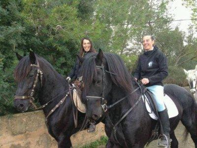 Ruta a caballo Marismas, barbacoa y espectáculo