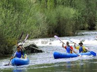 Enjoy the surroundings in the canoes