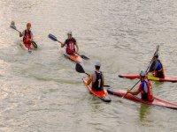 Salida con amigos en kayak