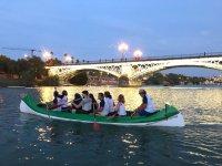 Bajo Triana at dusk in the canoe