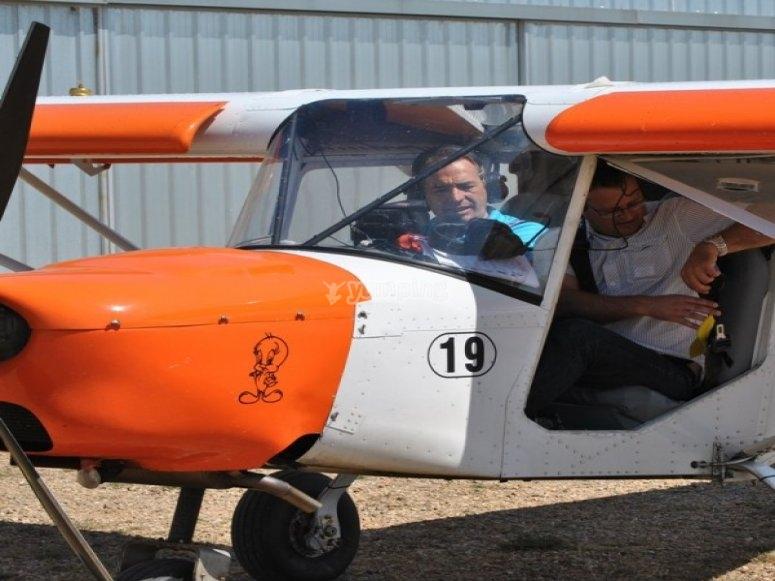 A light aircraft