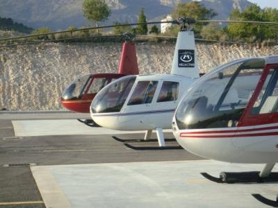 直升机在伊维萨岛和福门特拉岛Pitiusas 1小时