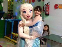 With the princess Elsa