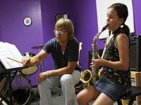 Aprendiendo el saxofon