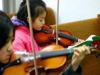 Tocando el violin