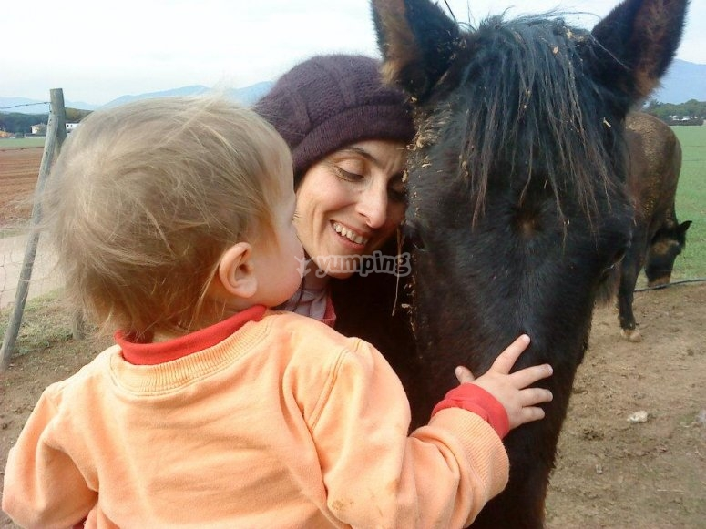 Disfrutando del caballo