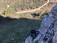 En el curso de escalada