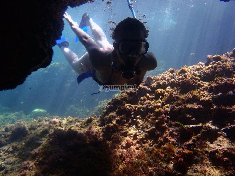 在美丽的地方潜水