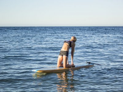 Night session of SUP Yoga in Aguadulce