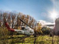 Helicoptero en campo de airsoft