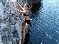 Deep-water soloing in Mallorca