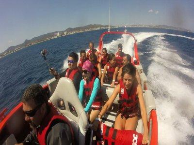 Ruta en Lancha rápida en Ibiza 15 minutos Niños