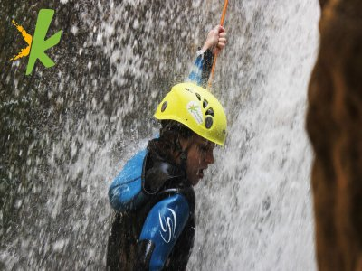 Canyoning descent in Genilla Priego, Córdoba