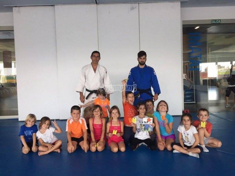 En clase de artes marciales