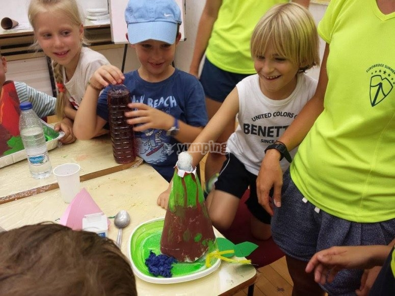 Construyendo un volcan