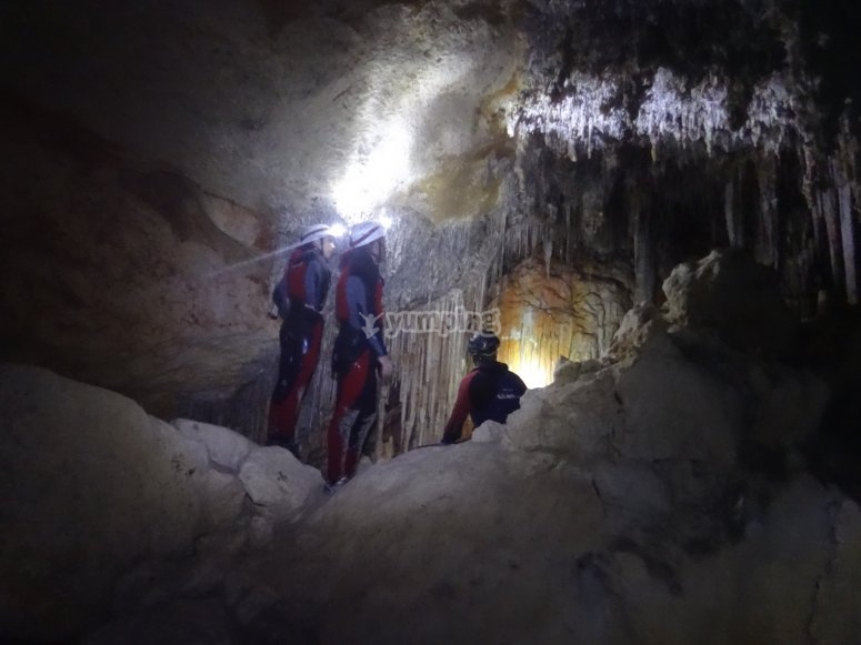 In the caves system