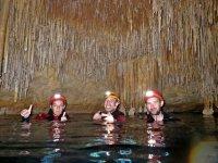 Swimming in a subterranean lake