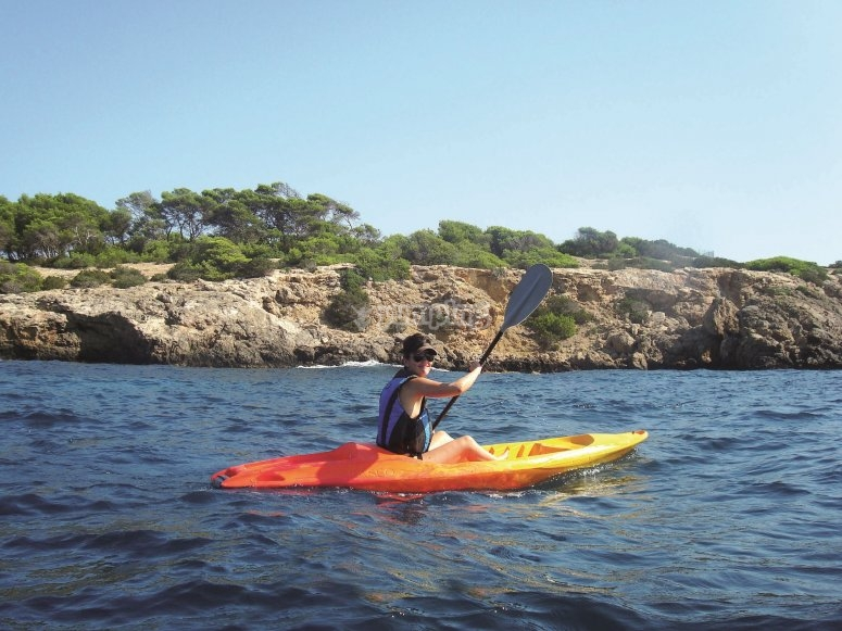 Kayaking in Palma bay
