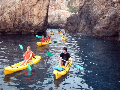 Aventura en kayak y snorkel en Santa Ponsa 3 horas