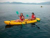 kayak en un entorno magnifico